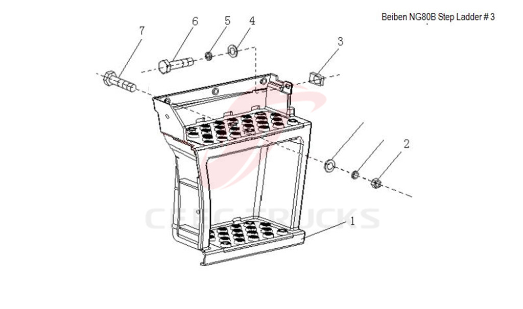 Beiben NG80B step ladder 5716600801 price