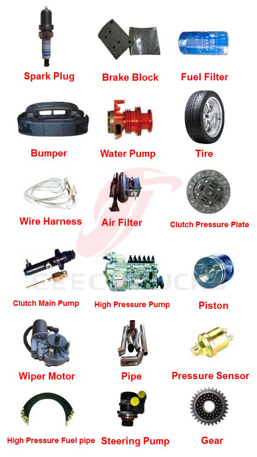 Genuine beiben spare parts wholesale