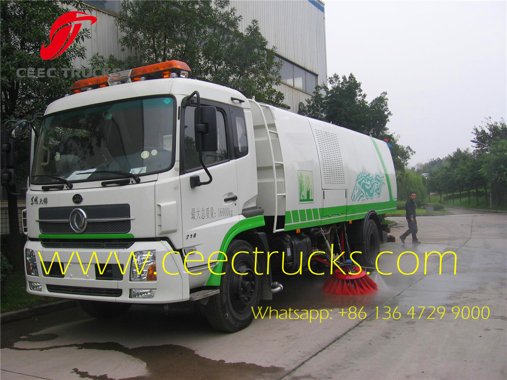 Dongfeng 9000 liters road sweeper trucks low price sale