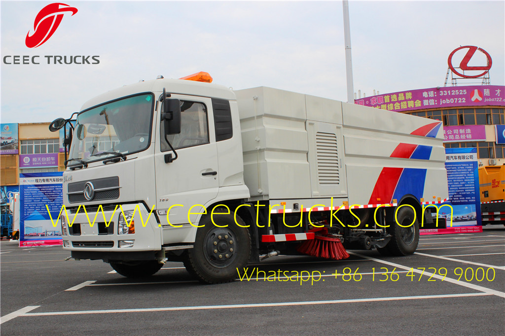 Dongfeng 10000 liters road sweeper trucks supplier