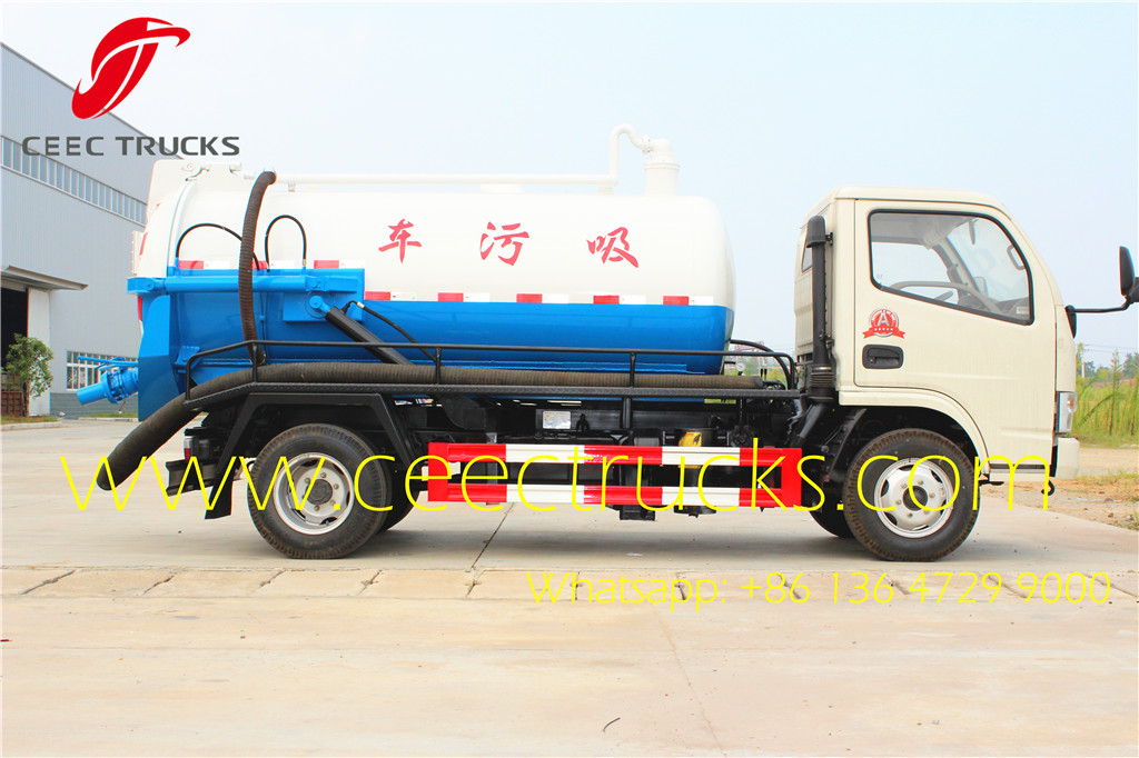 dongfeng mini 3CBM sewage tanker trucks low price