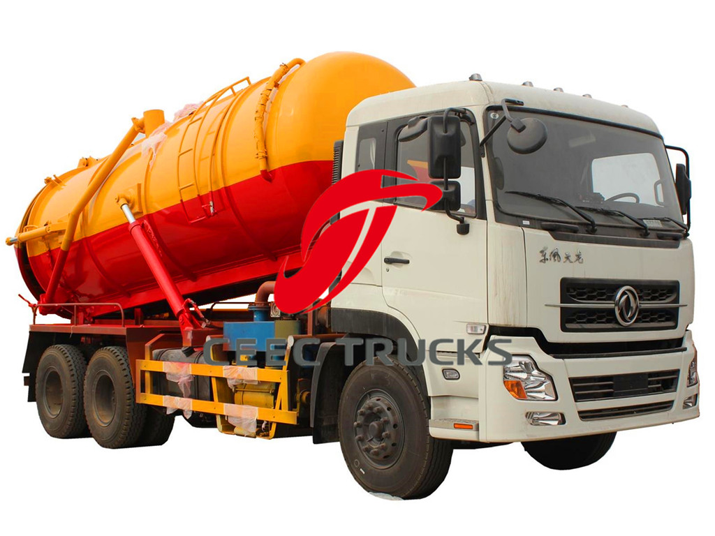 Dongfeng 18000liters vacuum suction tanker truck