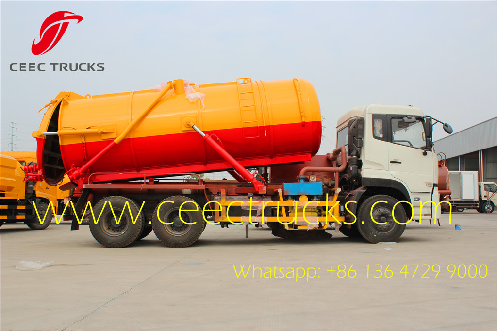Dongfeng 18000liters vacuum suction tanker trucks