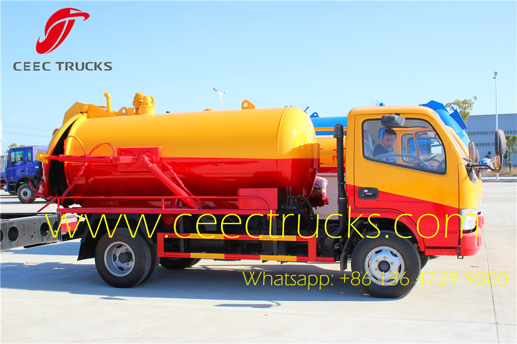 Dongfeng small 4000 liters cesspit emptier truck