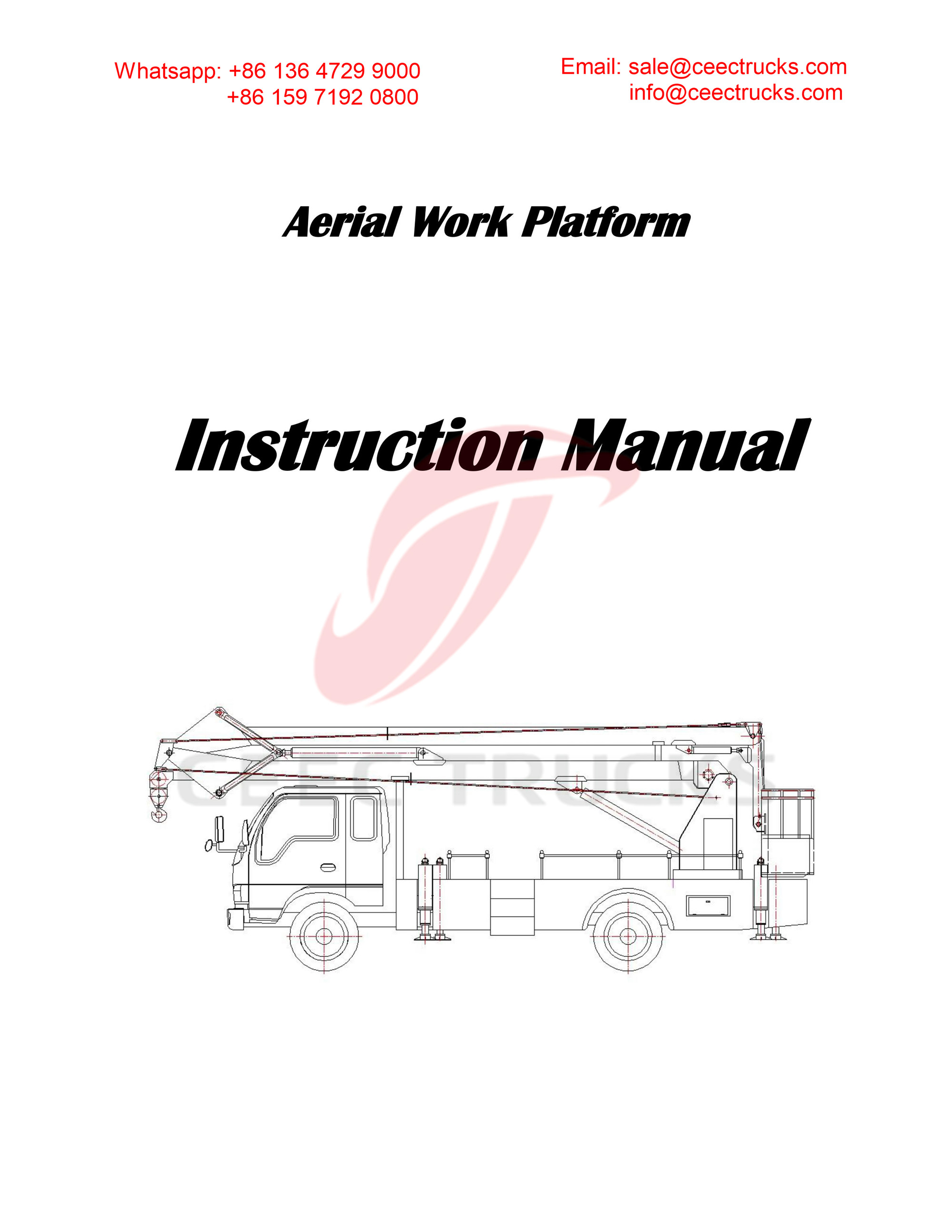 ISUZU 18m aerial working platform owner manual