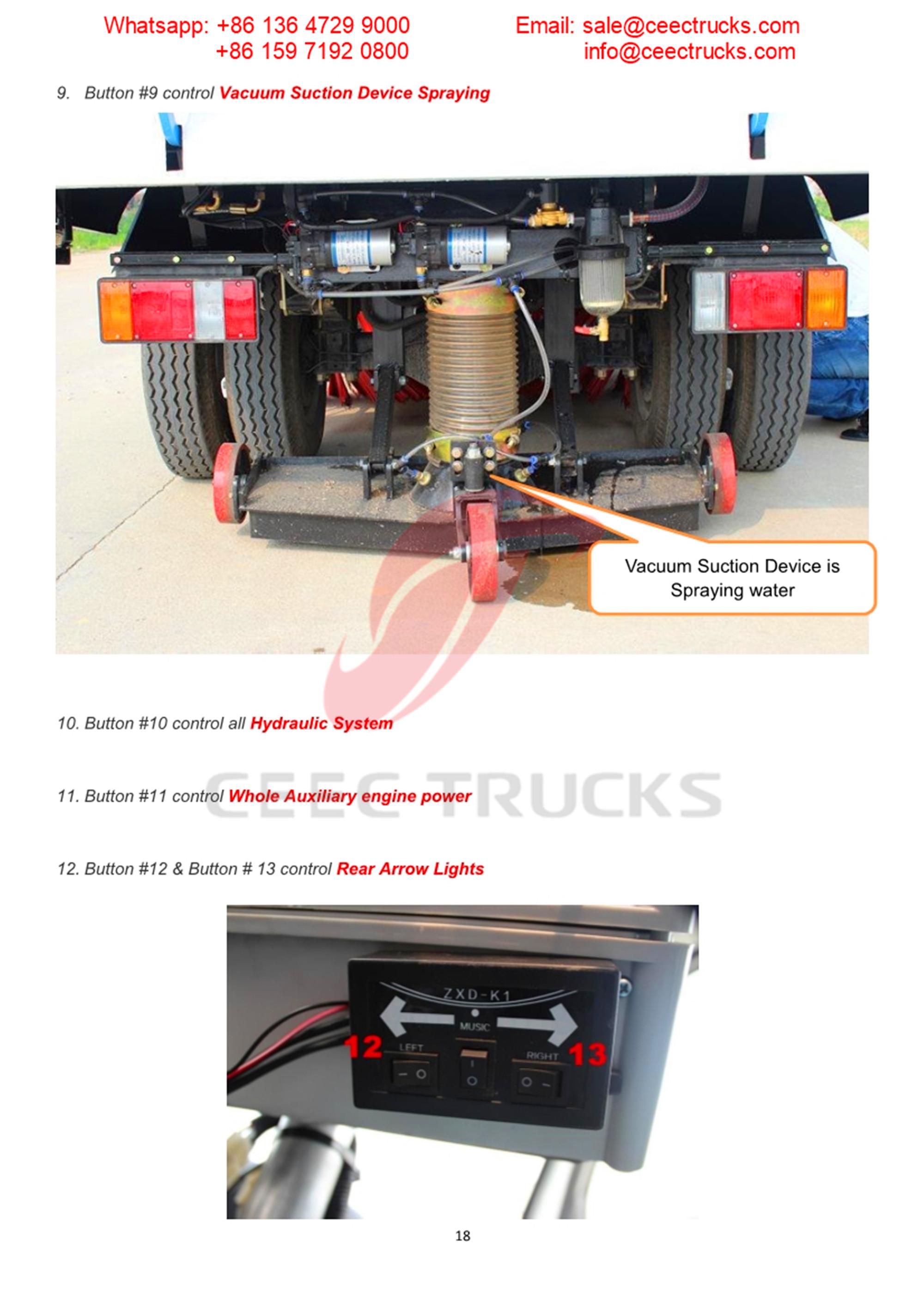 Phillippine customer buy 5CBM isuzu road sweeper truck