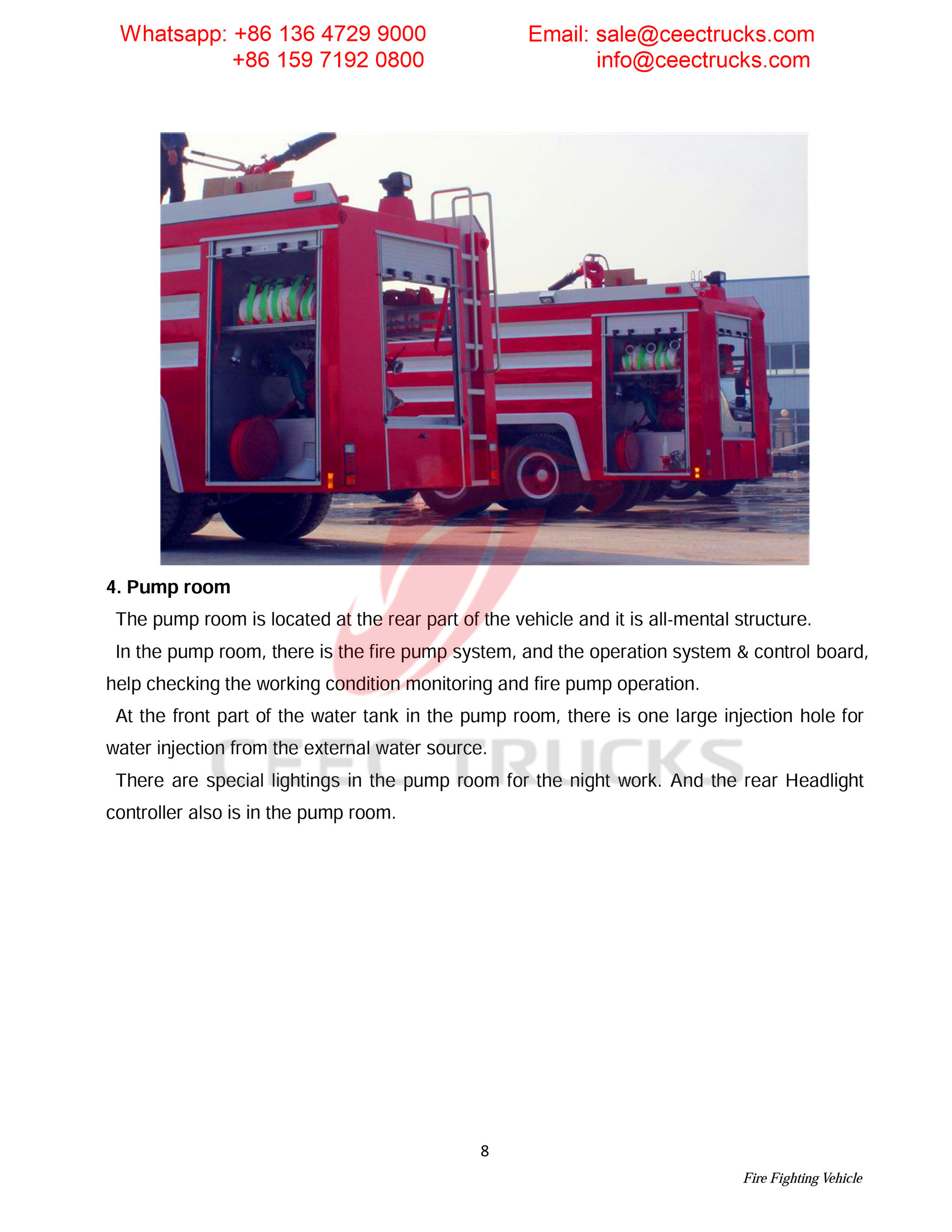 Syria ISUZU foam & water & powder fire truck