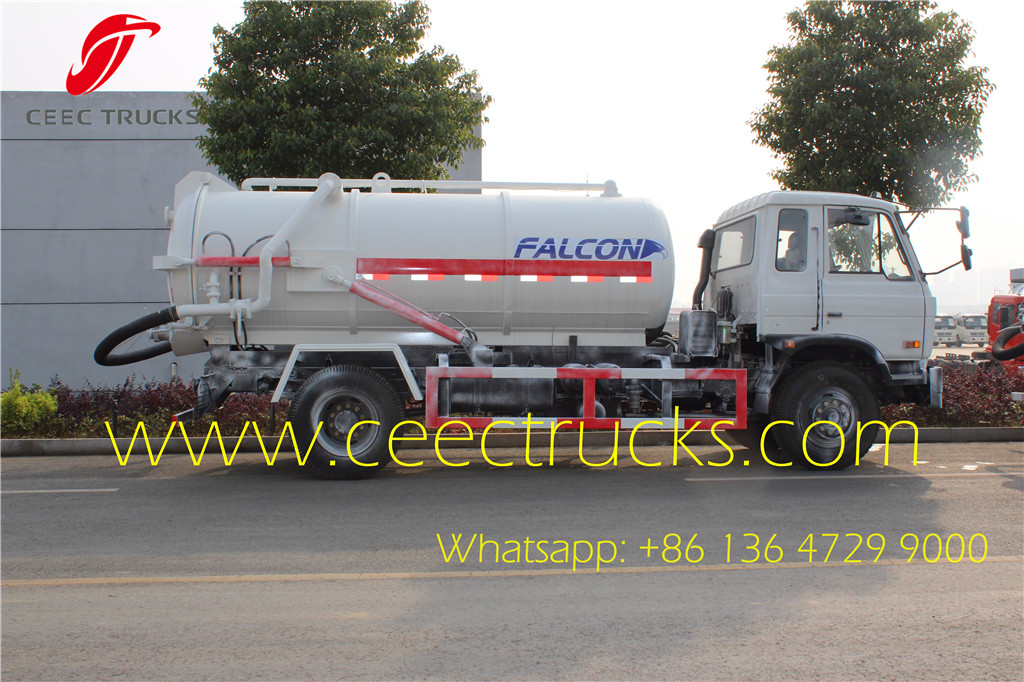 DFAC 8CBM vacuum suction trucks export Ecuador