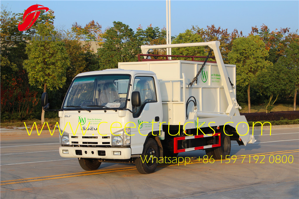 ISUZU 6CBM skip refuse truck export Asia countries