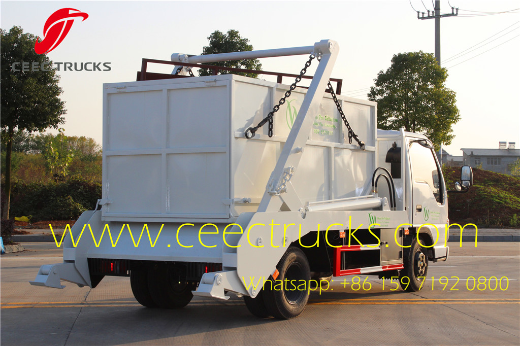 ISUZU 6000Liters swing arm garbage truck