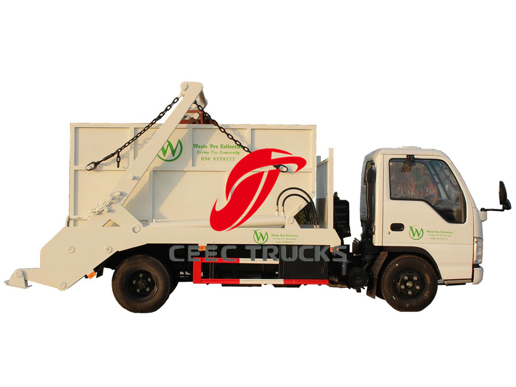 ISUZU 6CBM skip refuse container truck hot sale