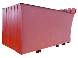 garbage compactor body side plate assembly