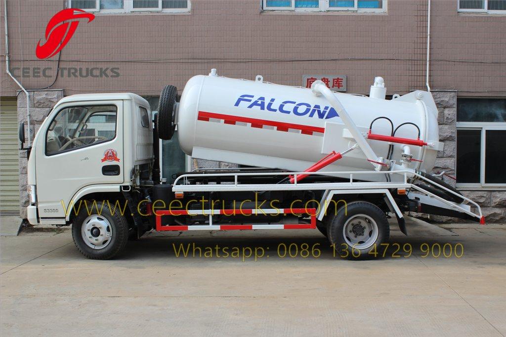 dongfeng 3 CBM sewage tanker truck