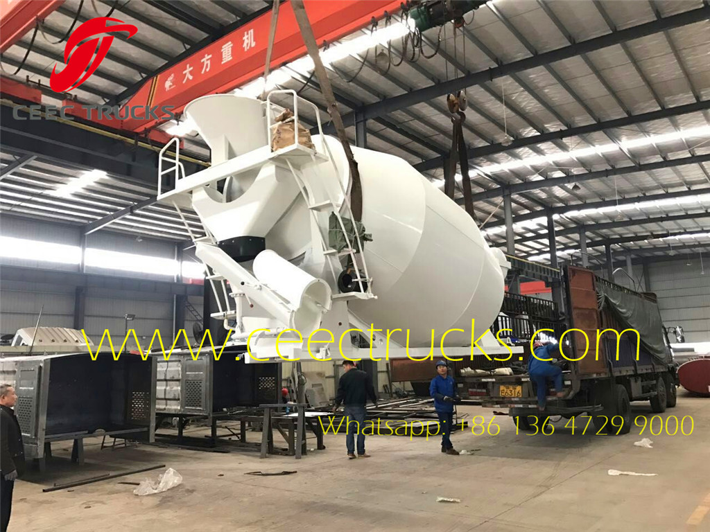 8CBM concrete mixer truck up body export Kenya