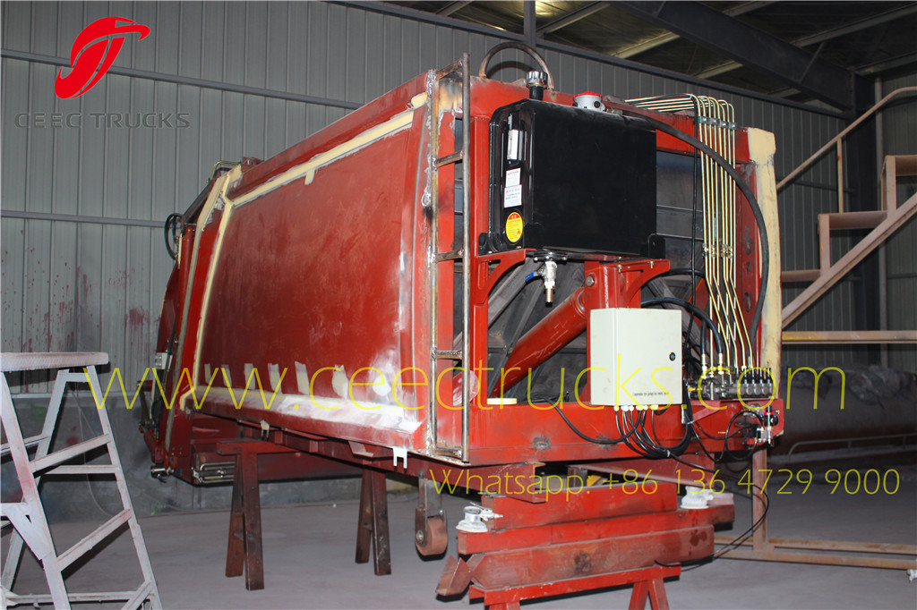 Phillippine 4CBM garbage compactor truck kits