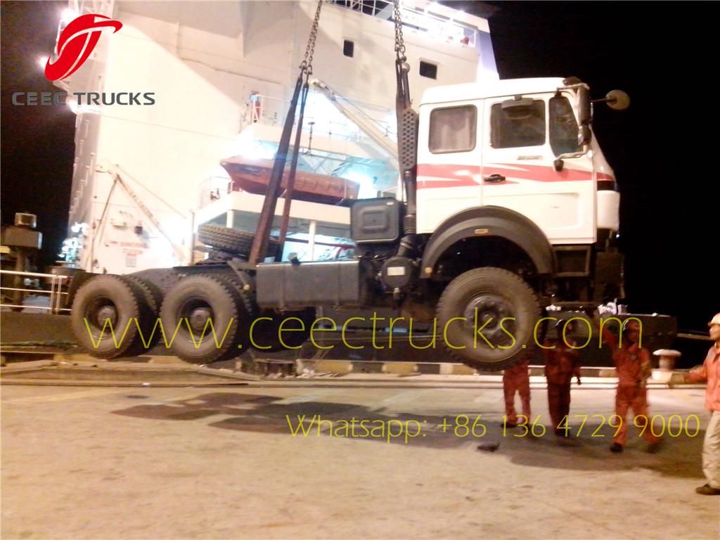 beiben 2638 tractor truck export Cote d'Ivoire country