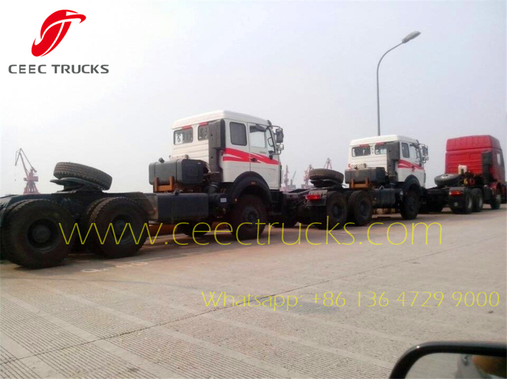 beiben 2638 tractor truck arrived at Shanghai Seaport