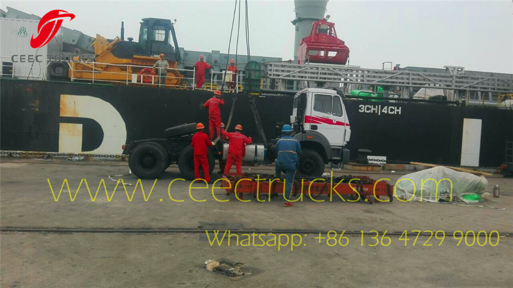 Beiben NG80B tractor trucks export Cote d'Ivoire