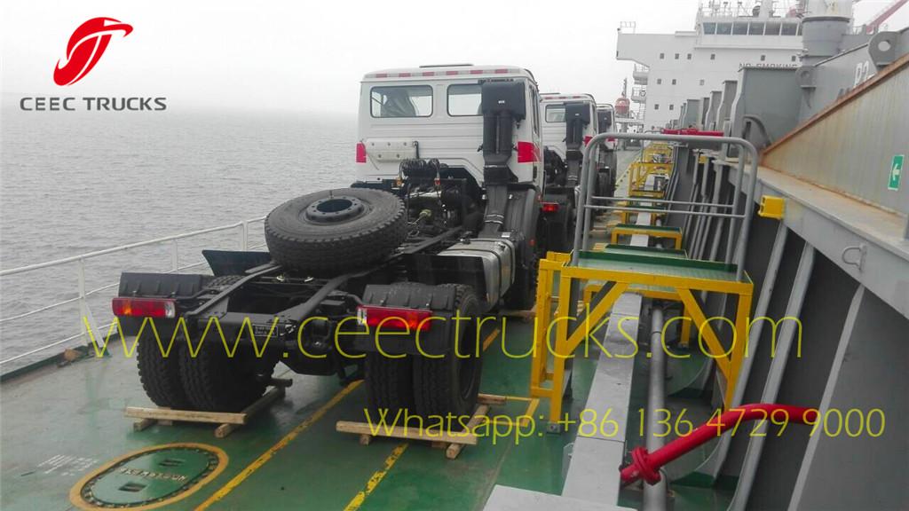 Cote d'Ivoire Beiben tractor trucks loading on bulk shipment