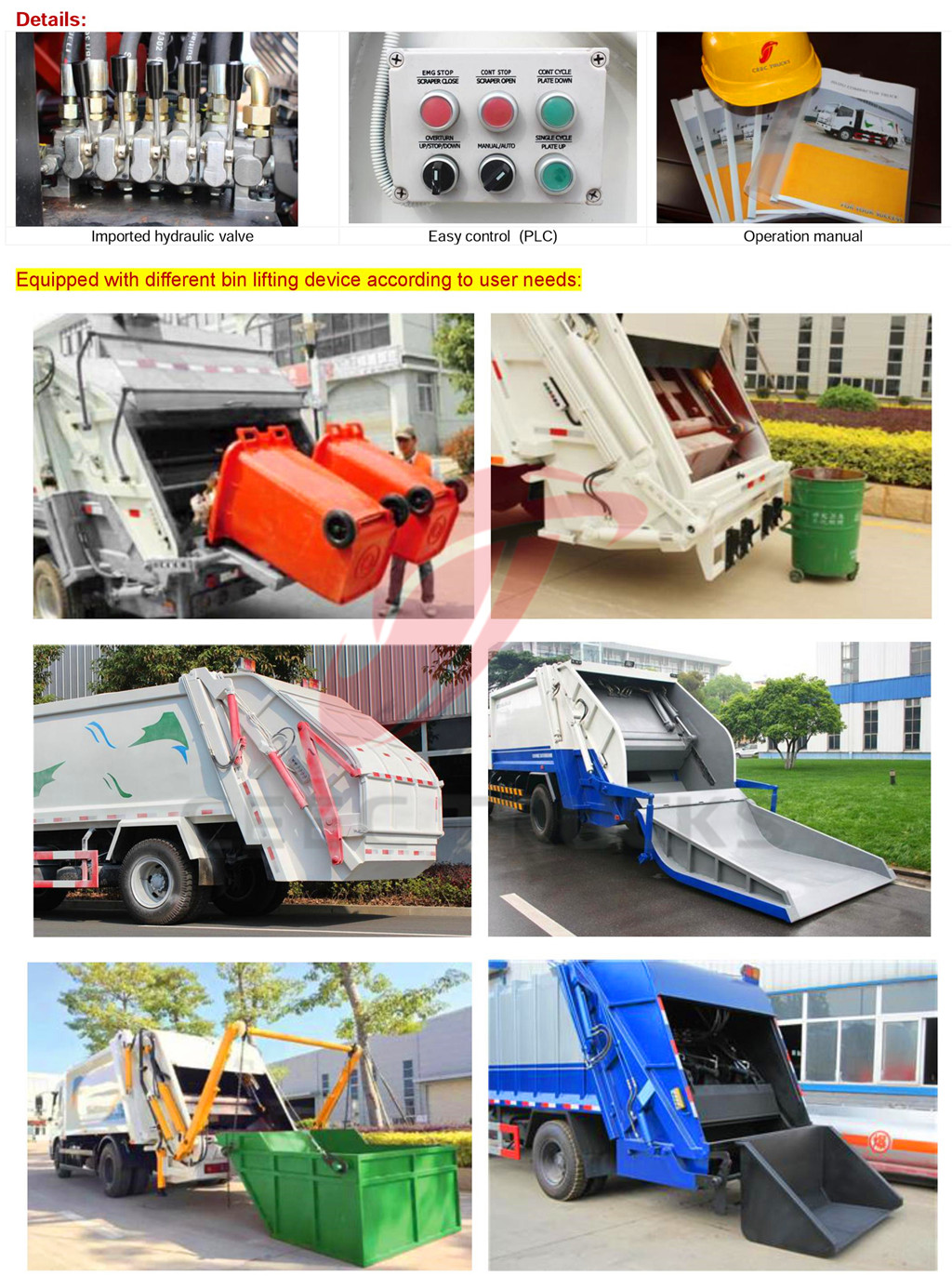 Why customer like CEEC supply 10CBM garbage compactor truck kit