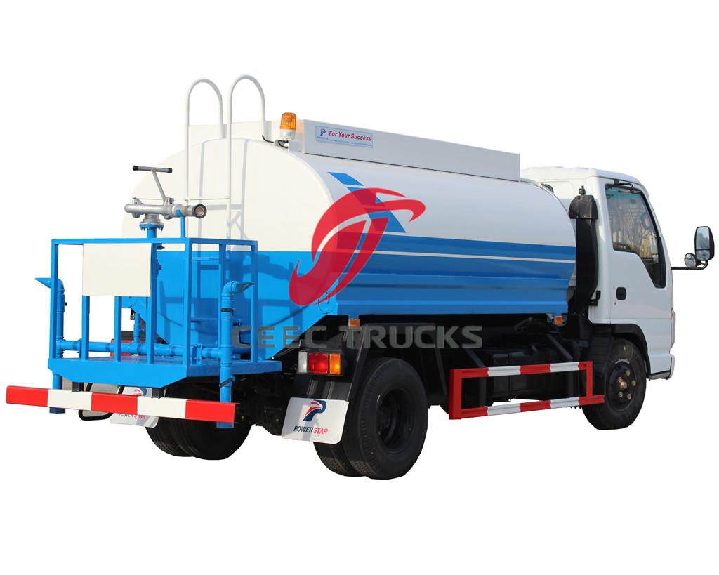 ISUZU 5CBM water tanker truck manufacturer directly sale