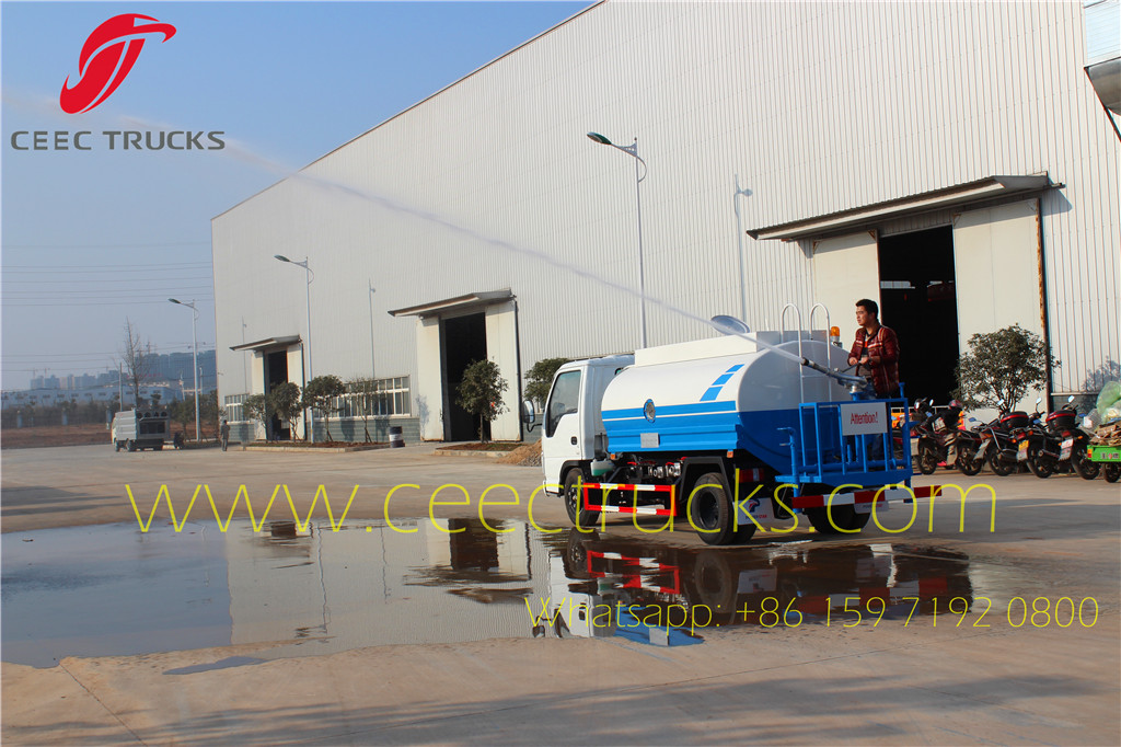 4 units ISUZU 5CBM water bowser export