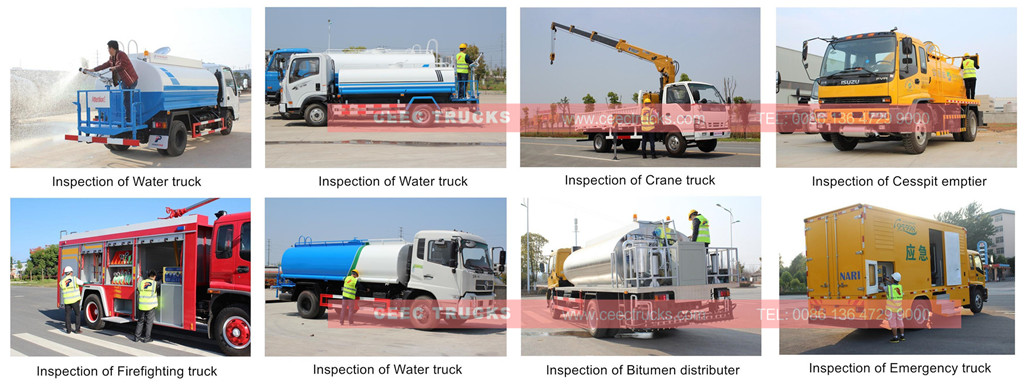 CEEC supply ISUZU 5CBM water tanker truck inspection
