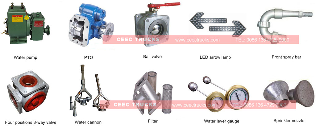 CEEC supply ISUZU 5CBM water tanker truck parts