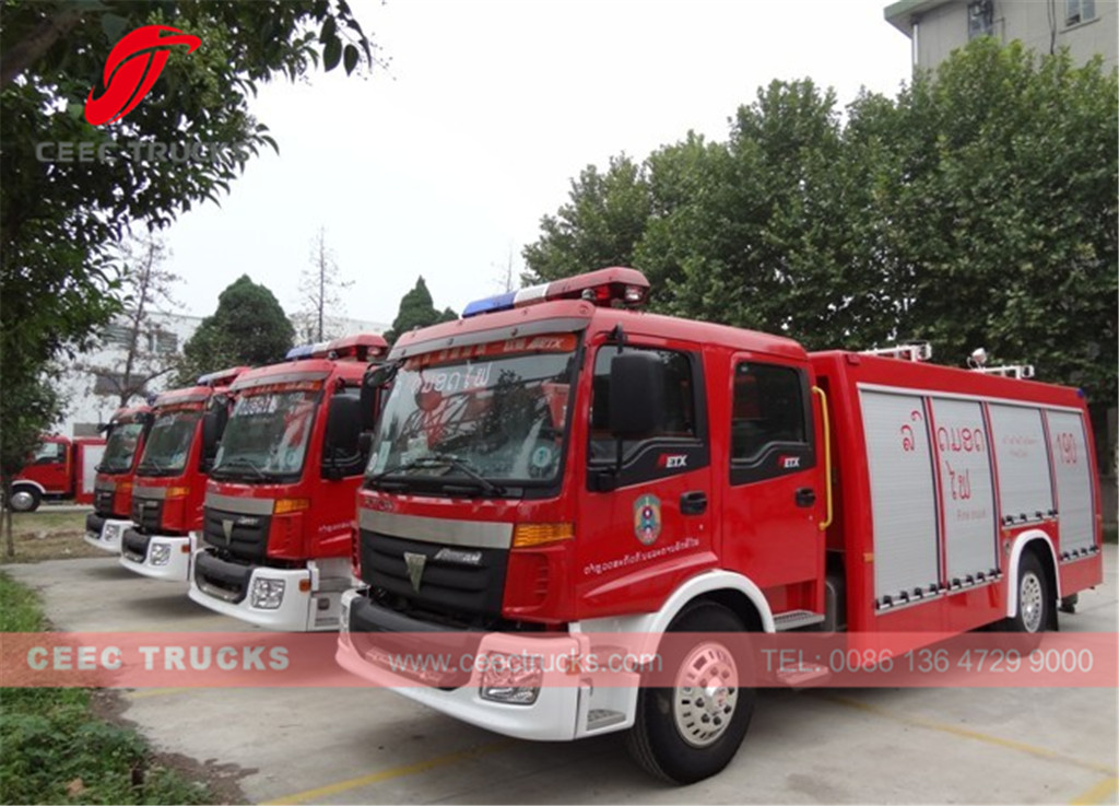 FOTON fire truck export Laos