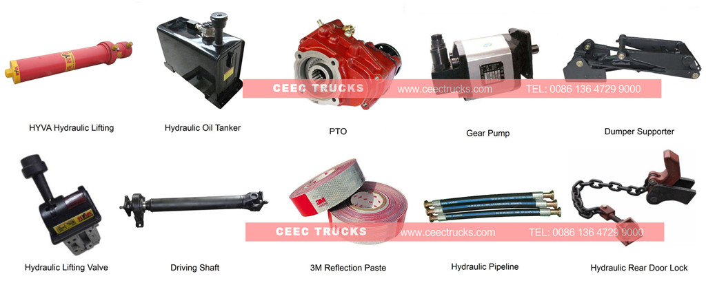beiben dumper truck spare parts