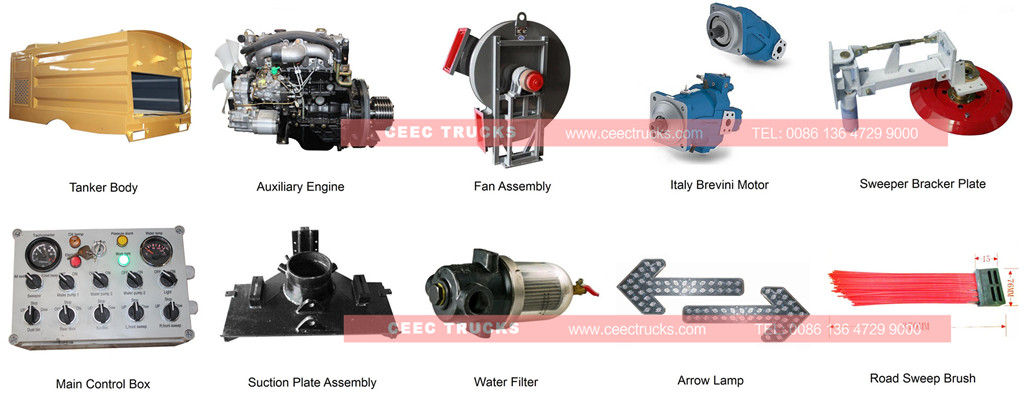 ISUZU road sweeper truck spare parts