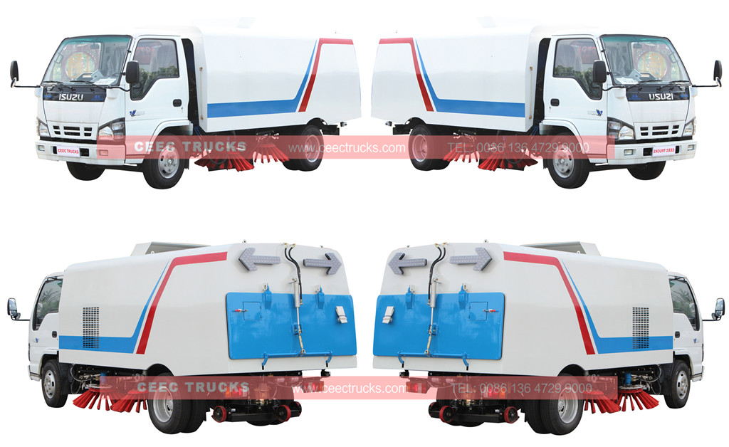 wholeview for ISUZU road sweeper truck