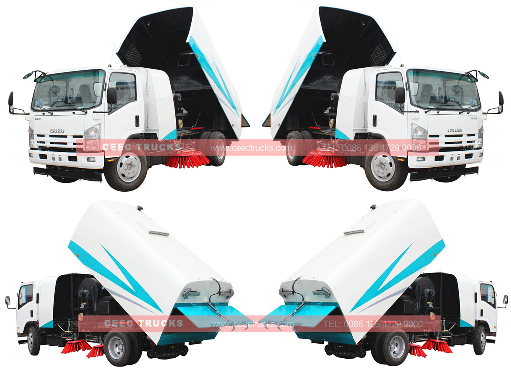 ISUZU 8cbm road sweeper wholeview