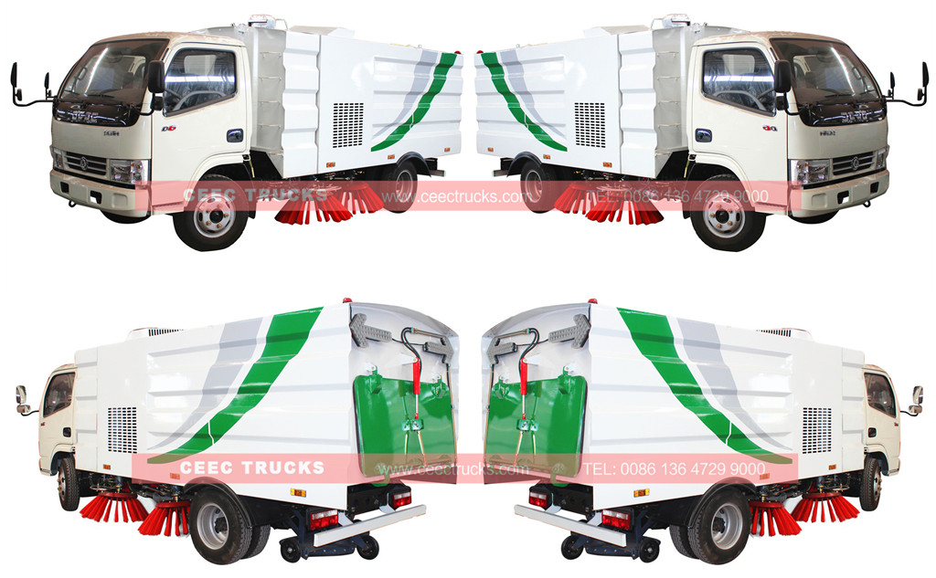 CEEC dongfeng 4cbm road sweeper truck