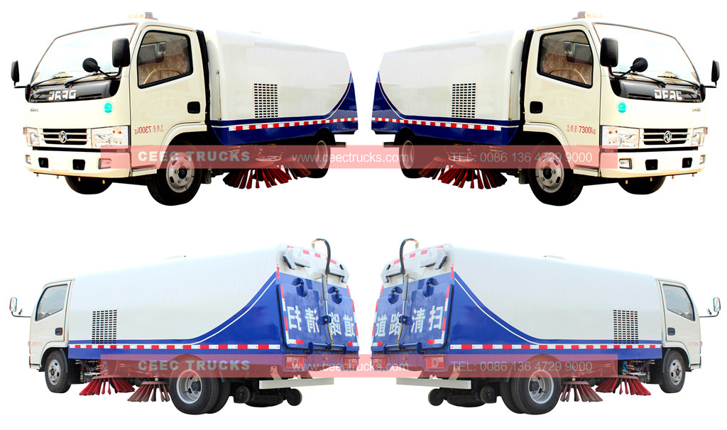 wholeview for dongfeng 5cbm road sweeper