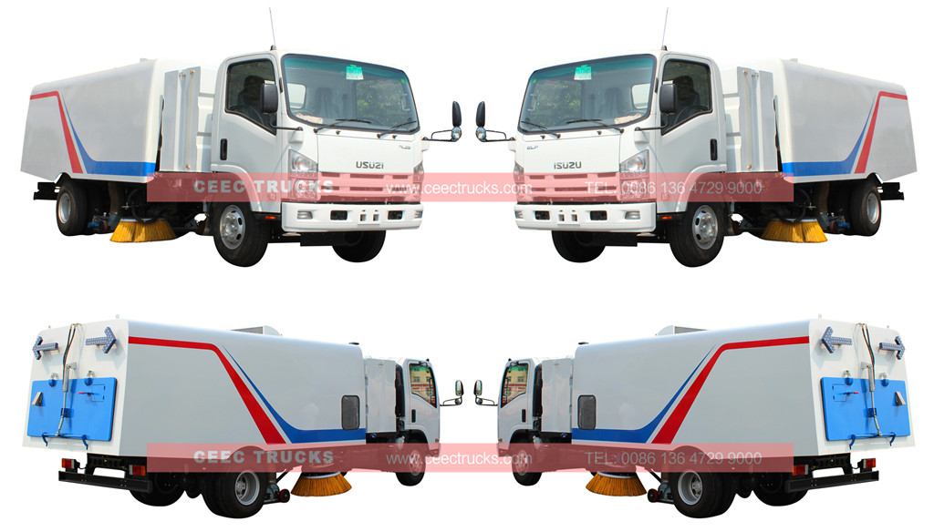 isuzu 8cbm road sweeper truck