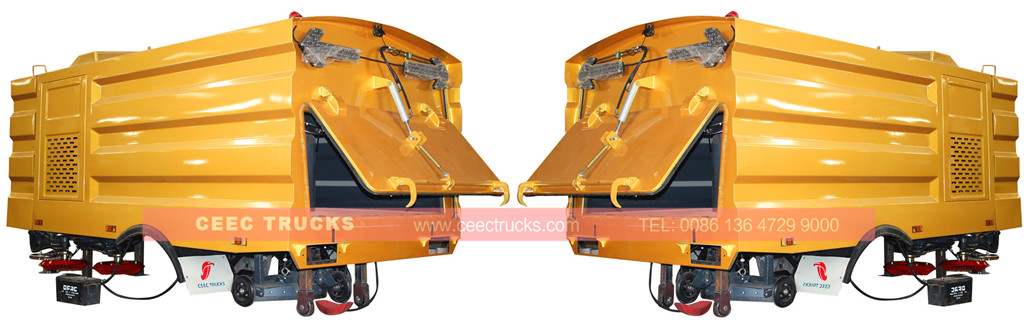 golden color 5cbm road sweeper kit