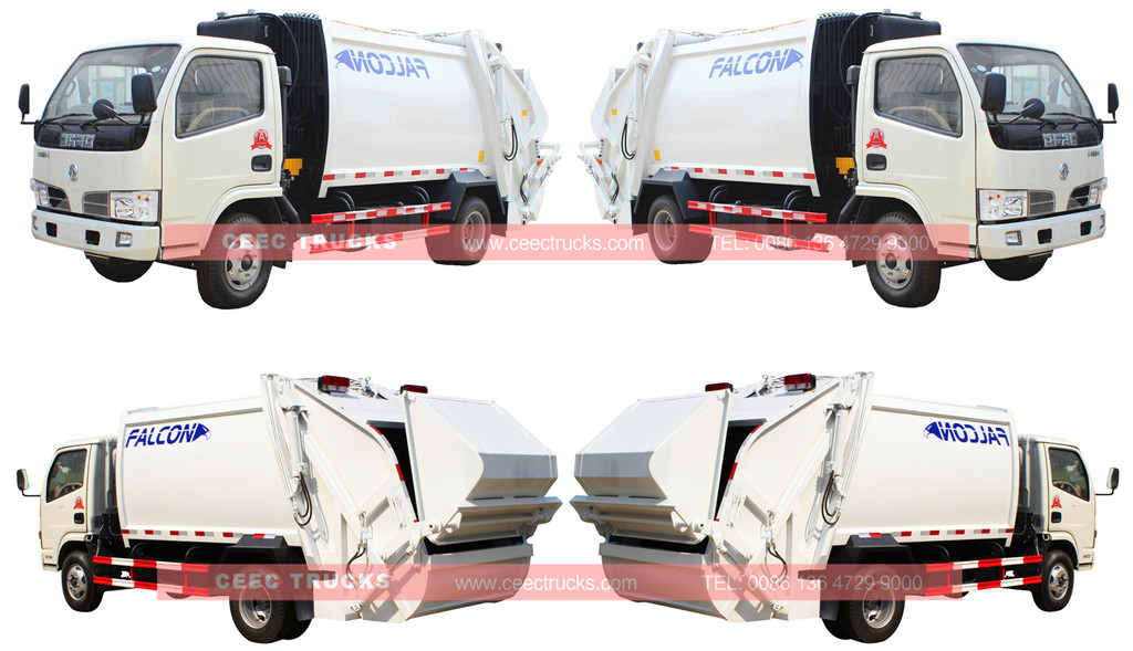 Dongfeng garbage compactor truck 5cbm