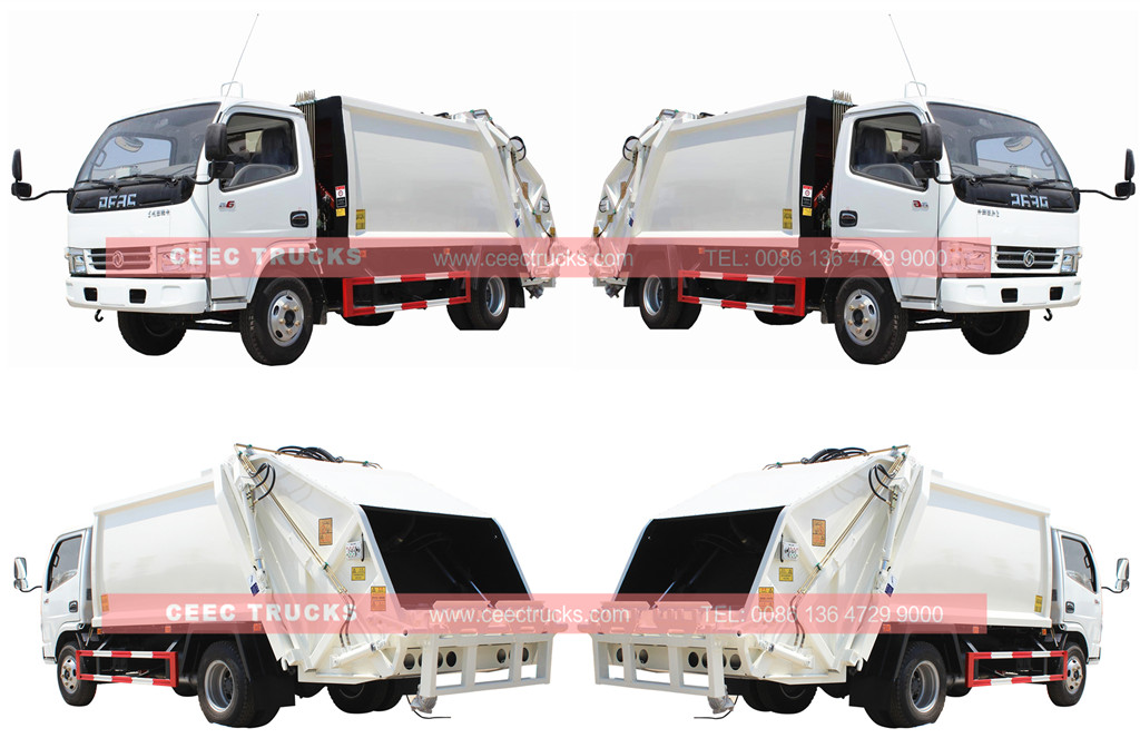 Whole view for Dongfeng garbage compactor truck