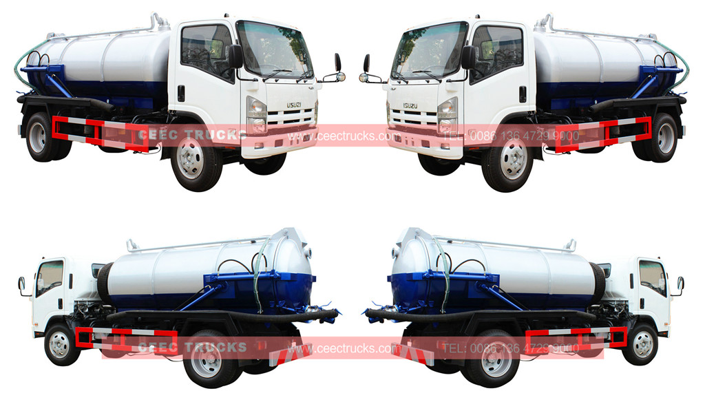 ISUZU 8cbm sewage suction truck