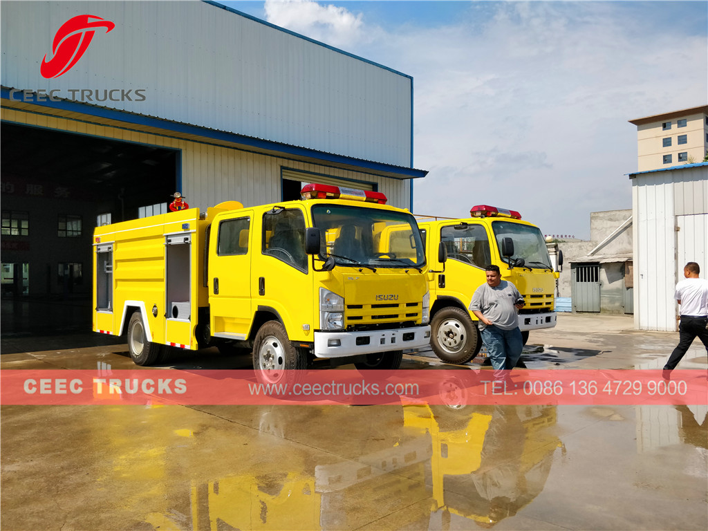 ISUZU Firefighting truck for inspection