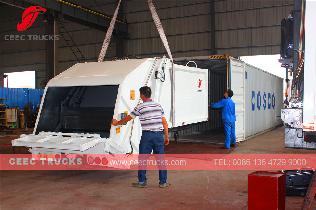 8cbm refuse compactor superstructure export Chile