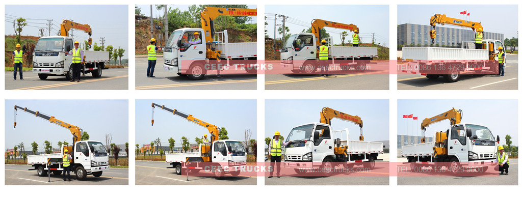 CEEC Engineers testing boom crane trucks before delivery