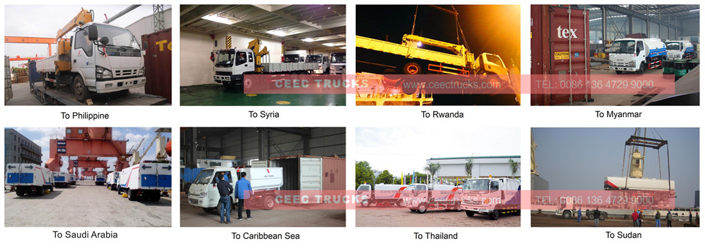 CEEC boom crane trucks previous export cases