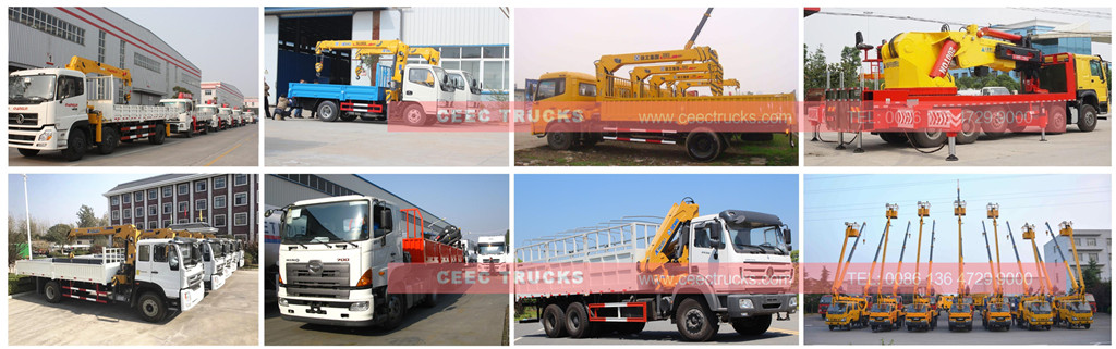 CEEC boom crane trucks in factory stock
