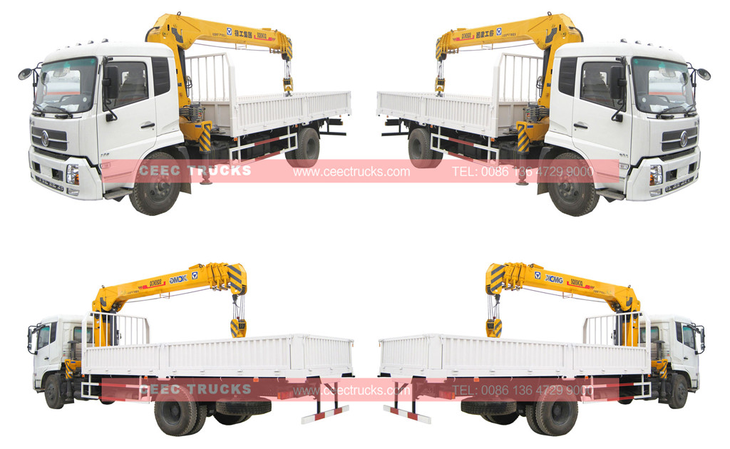 Dongfeng telescopic 8T boom crane trucks view