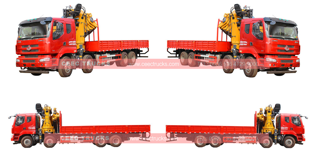 dongfeng 25tons hydraulic knuckle crane trucks