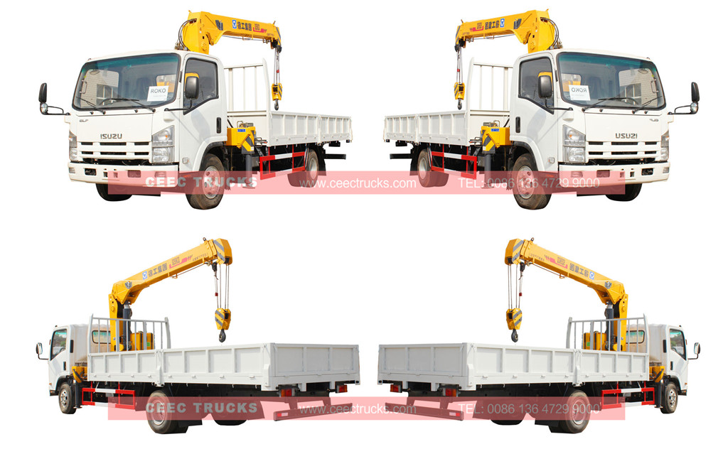 ISUZU 5tons telescopic boom crane truck wholesale