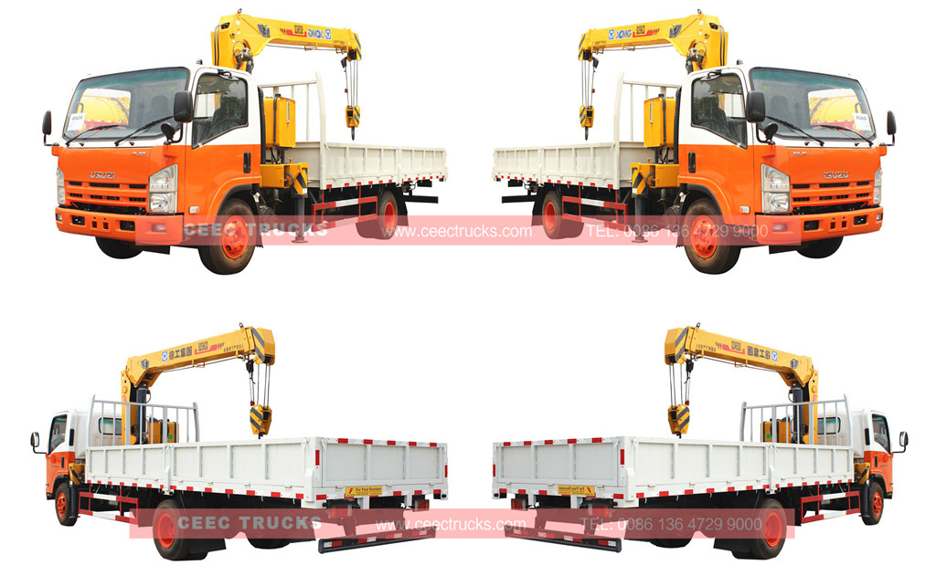 ISUZU 5tons crane mounted truck overview