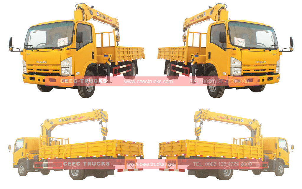 Wholeview ISUZU 6.3tons crane trucks